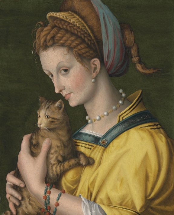 Bacchiacca_-_Portrait_of_a_young_lady_holding_a_cat